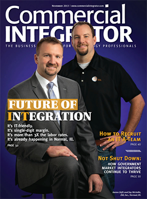Featured as 'Future of Integration' on cover of Commercial Integrators magazine